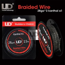 UD Braided Wire Kanthal A1 28ga*3 for DIY RDA RBA Atomizer Fast heating