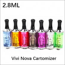 2.8ml 2.4ohm Vivi Nova Atomizer Clear atomizer for 510 thread battery