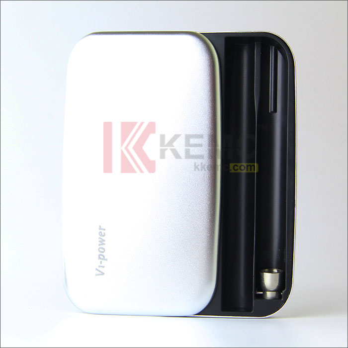 Sliver 1200mah V1-Power Box for 808D thread e-cigarettes 1pcs V1-Power  Body with 1pcs charging cable