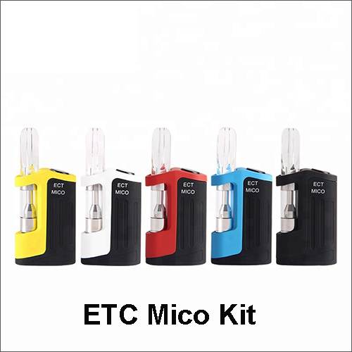 Original ECT Mico vape mod Thick oil CBD Vaporizer Kit With 510 Thread Ceramic coil CBD Atomizer