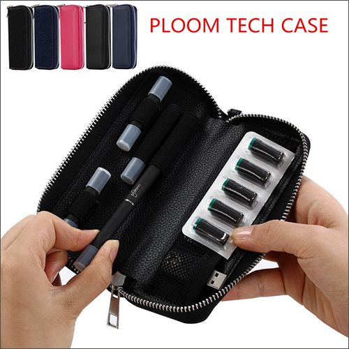 New Ploom Tech case zipper bag Ploom CASE leather case with carabiner