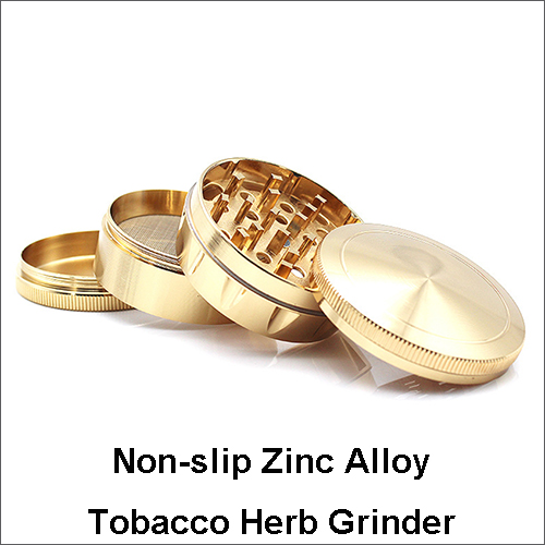 4 Parts Non-slip Zinc Alloy Tobacco Herb Grinder Smoking Herb Grinder