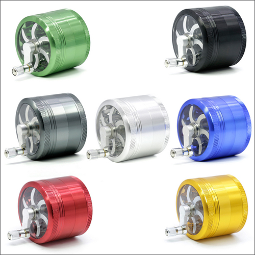 Tobacco Herb Grinder 56mm 4 layers Zicn Alloy Hand Cranked Herbs Herbal Grinders For Tobacco Herb