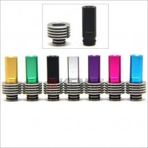 Stainless Flat 510 drip Tips with heat sink for RBA./RDA Atomizer with removable drip tip 510 style