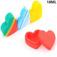 18ml Nonstick Heart shape Silicone Jars Dab tools food grade Silicone Container China wholesale online