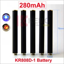 Black 280mAh 320mah AUTO KR808D-1 battery with diamond for Kanger 808d-1 DSE901 E-cigarettes KR808D Battery