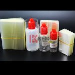 Transparent Shrink sleeve film PVC heat shrink wrap for 15ml plastic Bottles