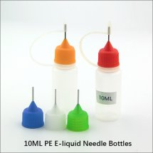 10ML Semi-Clear Empty plastic Needle bottles e-liquid empty dropper bottles with needle cap