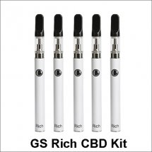 GS Rich CBD E-cigarette KitGS Rich Thick Oil CBD E-cigarette Starter Kit With Ceramic Coil Atomizer Thick Oil Starter Kit