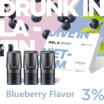 Blueberry Flavor Relx Vape Pods 3pcs / Pack - 3% Nicotine