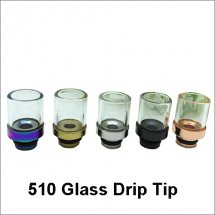 Glass clear driptips Metal Mouthpiece wide bore drip tip for 510 RDA RBA atomizers