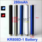 280mAh AUTO 808D-1 battery with diamond for kr808d-1 DSE901 E-cigarette KR808D-1 Battery factory wholesale