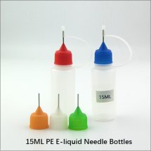 15ML empty plastic needle eyedropper bottles PE ecig dropper bottles for e-liquid