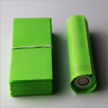 Candy Green PVC Heat shrink film for 18650 series battery(100-pack)