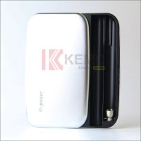 Sliver 1200mah V1-Power Box for 808D thread e-cigarettes with 1pcs charging cable