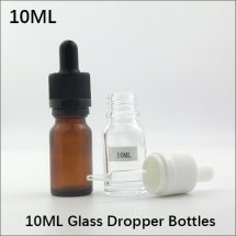 10ml Empty Glass Dropper Bottles With tamper ring cap for ejuice container