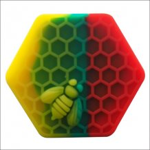 26ml honeybee hexagon Silicone storage Container Jars Silicone wax jars China wholesale For wax dab tools