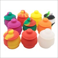 35ml Nonstick food grade Honey Pots Silicone Dab Container Storage Wax Oil jars