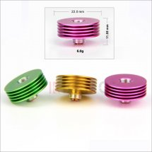 Finned Heat Sink Adaptor for 510 thread RBA RDA Huge Vapor Atomizer heat sink wholesale china
