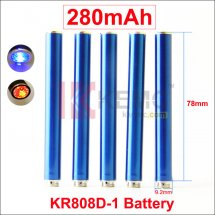 Blue 280mAh KR808D battery with diamond for Kanger 808d-1 Auto Ecigarettes 280mah Mini KR808D-1 Battery