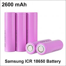 Samsung ICR 18650 Batteries With 2600mAh Capacity