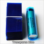Transparen Blue-Shrink seals PVC Heat insulation Re-wrapping Tube for 18650 series battery 100pcs per lot