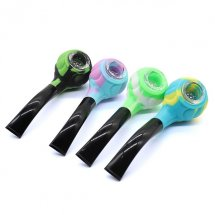 Round Head Silicone Pipe For Tobacco Herb Smoking