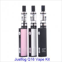 Original Justfog Q16 Vape Kit 900mAh Black Silver Pink E Cigarette Vape with 2ml Atomizer 1.6ohm OCC Coil