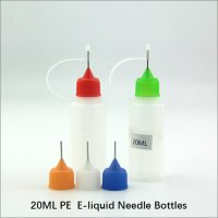 20ML empty plastic needle tip bottles PE ecig dropper bottles for e-liquid container