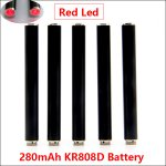 Black 280mAh AUTO KR808D-1 battery with diamond for Kanger 808d-1 DSE901 E-cigarettes KR808D Battery