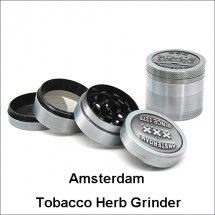 Amsterdam Tobacco Herb Grinder 4 Layers Zicn Alloy Smoking Herb Grinder
