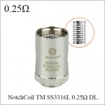 joyetech Cubis BF Coils NotchCoil TM SS3316L 0.25Ω DL. Atomizer coils for Cubis with Replaceable cotton core