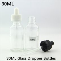 30ml empty Glass E-juice Bottles E-liquid transparent Container