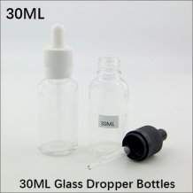 30ml empty Glass E-liquid Bottles With tamper ring cap for E-juice Container