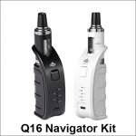 Q16 Navigator E-cigarette Starter Kit with 900 mah battery capacity
