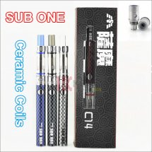 Sub One C14 Starter Kit ceramic Coils tank e cig vape pens huge vapor Tank Atomizer 900mAh sub one nano wholesale