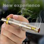 Automatic Retractable Glass Blunt Pipe Dry Herb Pipe Vaporizer