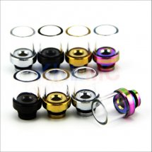 Glass 510 drip tips wide 510 Mouthpiece for E Cigarette RBA RDA Atomizer with removable drip tip 510 style