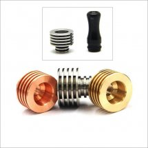 Finned Heat Sink with Seal for 510 Drip tips of Atomizer with removable drip tips 510 style