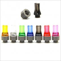 Colorful Flat 510 drip Tips with heat sink for Diy Atomizer with removable drip tip 510 style