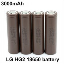 LG HG2 18650 Rechargeable 3000mAh Li-ion Battery