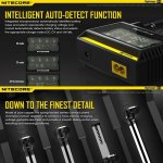 100% Original Nitecore D4 Digicharger With LCD Display Fit 18650 14500 16340 26650 18350 Mod Battery