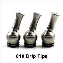 360 Degree Rotating Stainless 810 Drip Tips