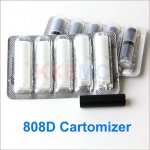 Cartomizer for 808d battery E-cigarette high quality replaceable 808d cartomizer(5pcs)