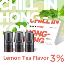 Lemon Tea Flavor Relx Cartridges 3pcs / Pack - 3% Nicotine
