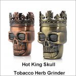 3 Layers Classic Hot King Skull Tobacco Herb Spice Grinder Pollen Crusher