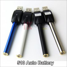 510 Battery with Wireless USB Charger for E-cigarettes 280mah Rebuildable Auto 510 battery with Diamond in the Bottom