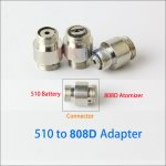 510 to 808D Thread Adapter for e cigarettes 510 battery connect 808D Cartomizer become 808d mod