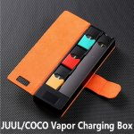 COCO JUUL Vapor Charging Box Charging Bag With LCD Charging Indicator And 3 Cartridge Storage Position