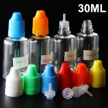 Childproof cap 30ml e-liquid bottles with thinner dropper plastic empty 10ml 30ml 50ml e-juice bottles cheap ejuice bottles